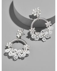 BaubleBar - Gray Snowflower Drop Earrings - Lyst