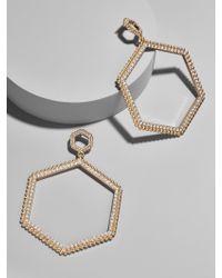 BaubleBar - Multicolor Hexagonal Hoop Earrings - Lyst