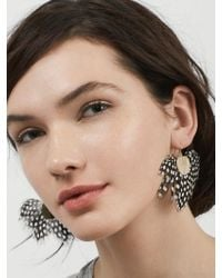 BaubleBar | Multicolor Monarch Feather Earrings | Lyst