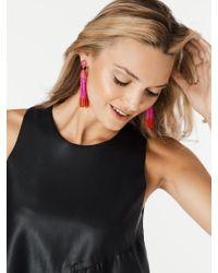 BaubleBar - Pink Piñata Tassel Earrings - Lyst