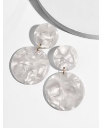 BaubleBar - White Alison Resin Drop Earrings - Lyst