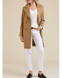 Baukjen Natural Farrah Double Breasted Coat