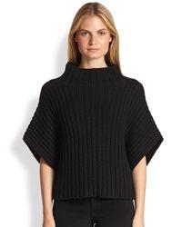Ralph Lauren Black Label - Black Cashmere Funnelneck Sweater - Lyst