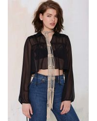 Nasty Gal | Natural Mikayla Beaded Wrap Necklace | Lyst