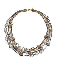 Alexis Bittar - Multicolor Elements Muse D'Ore Smoky Quartz, Pyrite & Crystal Spur Lace Multi-Strand Necklace - Lyst