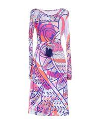 Emilio Pucci - Purple Knee-length Dress - Lyst