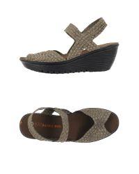 Bernie Mev   Metallic Sandals   Lyst