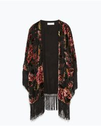 Zara | Black Round Neck Sweater | Lyst