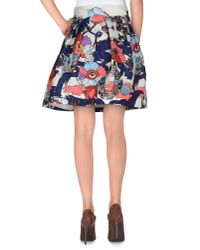 Mary Katrantzou - Blue Knee Length Skirt - Lyst