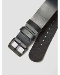 TID | Leather Wristband Black for Men | Lyst