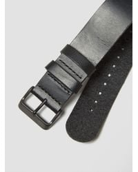 TID - Leather Wristband Black for Men - Lyst