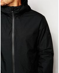 Jack & Jones | Black Hooded Jacket With Quilted Lining for Men | Lyst