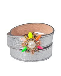 Shourouk | Metallic Triple Wrap Beedis Bracelet | Lyst