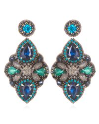 Suzanna Dai | Blue Marseilles Large Drop Earrings, Navy/teal | Lyst