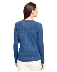 Brooks Brothers | Blue Supima® Cotton Cardigan | Lyst