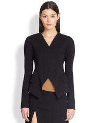 Donna Karan | Black Wrap Jacket | Lyst