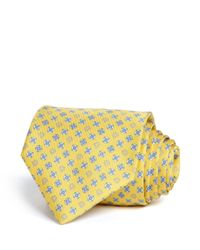 Ferragamo - Yellow Gancini And Floral Classic Tie for Men - Lyst