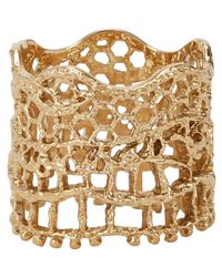 Aurelie Bidermann - Metallic Vintage Lace Ring - Lyst