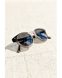 Urban Outfitters | Black Mixed Matte Round Sunglasses | Lyst
