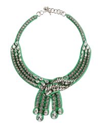 Shourouk | Green Necklace | Lyst