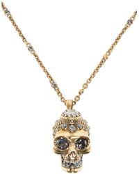 Alexander McQueen - Metallic Gold Victorian Skull Pendant - Lyst