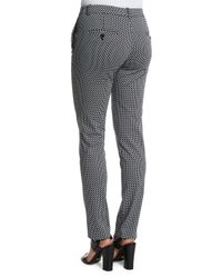 Michael Kors - Black Samantha Skinny Cotton-Blend Pants  - Lyst