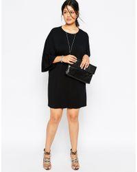 ASOS - Black T-shirt Dress With Kimono Sleeves - Lyst
