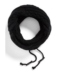 Bickley + Mitchell - Black Cable Knit Drawstring Snood for Men - Lyst