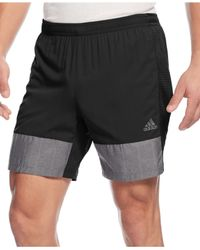 "Adidas | Black Men's Supernova 7"" Climacool Shorts for Men 