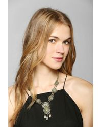 Urban Outfitters | Green Farah Stone Necklace | Lyst