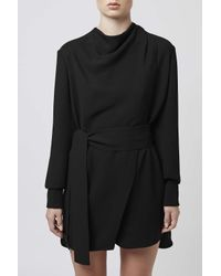 TOPSHOP | Black Livonia Tunic Dress By Unique | Lyst