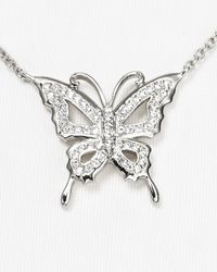 Nadri - Metallic Pave Open Work Butterfly Necklace 16 - Lyst