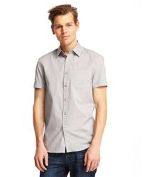 Kenneth Cole | Gray Tonal Stripe Sportshirt for Men | Lyst