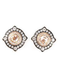 Monan - White Gold And Diamond Pavé Earrings - Lyst
