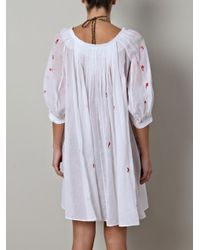 Thierry Colson - White Eva Floral Cotton Dress - Lyst