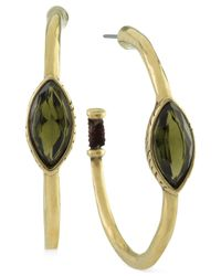 The Sak | Metallic Gold-tone Green Stone Hoop Earrings | Lyst