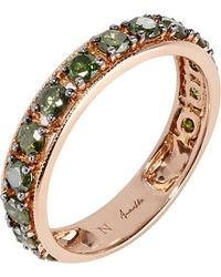 Annoushka | Green Dusty Diamonds 18ct Rose-gold And Diamond Eternity Ring | Lyst