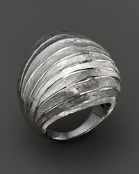 Roberto Coin | Metallic Sterling Silver Dome Ring | Lyst
