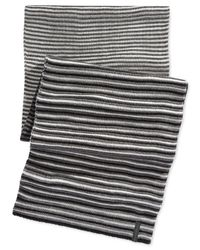 Calvin Klein - Black Ombre Jacquard Muffler Scarf for Men - Lyst