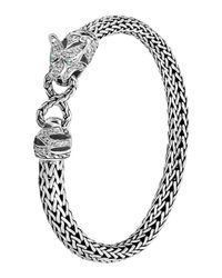 John Hardy | Metallic Classic Chain Medium Macan Diamond Bracelet | Lyst