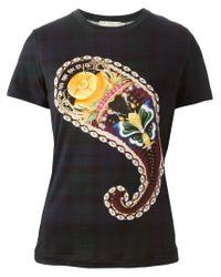 Mary Katrantzou - Blue Paisley Print T-shirt - Lyst
