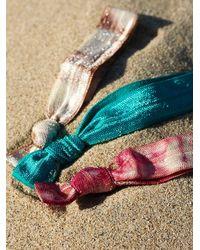 Free People - Blue Womens Elastic Printed Hair Ties - Lyst