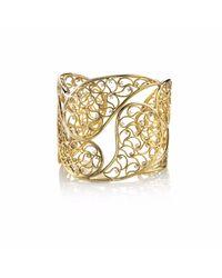 Sonal Bhaskaran | Metallic Amer Gold Cuff Clear Cz | Lyst