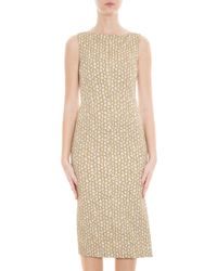Rochas - Metallic Gold Sheath Dress - Lyst