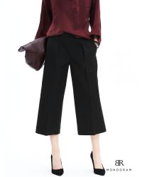 Banana Republic | Black Br Monogram Pleated Gaucho Pant | Lyst