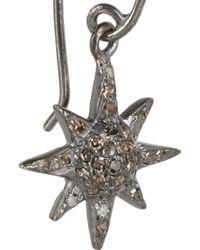 Iam By Ileana Makri | Metallic Oxidized Silver Diamond Earrings | Lyst