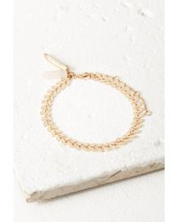 Forever 21 | Metallic Faux Quartz Pendant Bracelet | Lyst
