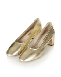 TOPSHOP | Metallic Juno Soft Glove Mid Shoes | Lyst