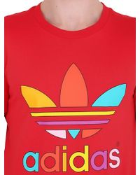 Adidas | Red Logo Organic Cotton T-shirt for Men | Lyst