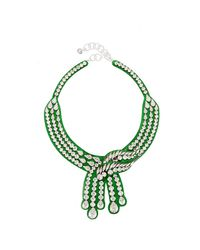 Shourouk | Green Legend Necklace | Lyst